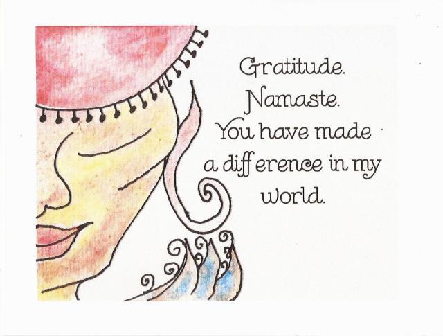 gratitude and namaste 2016