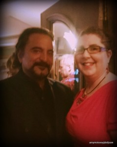 Tom Savini and me. He has his zombie toe on his belt. It thrills me that he was wearing it all night.
