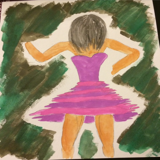 Titled: Dance Therapy Watercolor on paper By: Amy Moloney